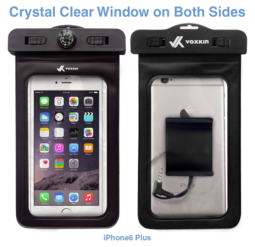new style 30588 1d4ac Waterproof Case for All Smartphones (Waterproof Earphone & Headphone Jack +  Armband + Compass + Lanyard)